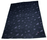 Fleece blanket with horses_