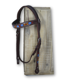 Kifra Western Headstall Beaded Arizona