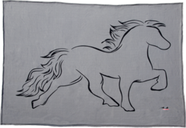 Fleece blanket with horse