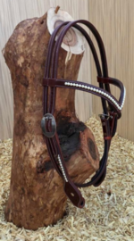 Western Headstall V-Brow Swarowski | 4 colors |
