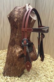 Western Headstall Cow & Dots | 2 colors |