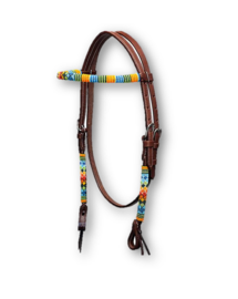 Western Headstall Beaded Dark Summer