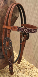 Western Headstall Aztec Beads | 2 colors |
