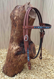 Western Headstall Turquoise Beads | 4 colors |