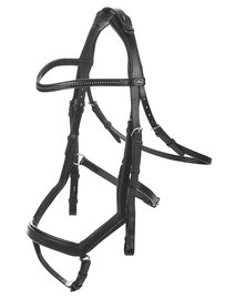 Anatomic Bridle Feeling Black Crystal