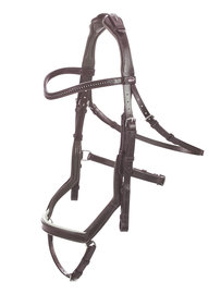 Anatomic Bridle Feeling Brown Crystal