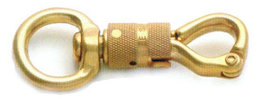 Brass security snap