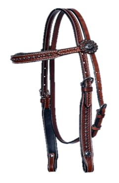 Headstall Antique Dots